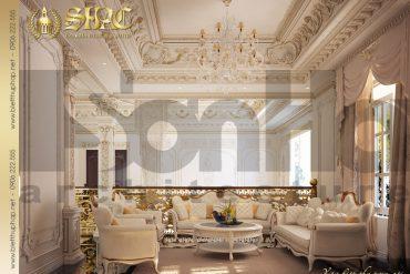 7.Thiết kế nội thất phòng sinh hoạt chung cổ điển tại sài gòn SH BTP 0021