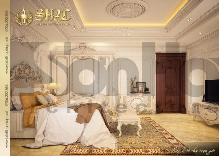 Mẫu nội thất phòng ngủ biệt thự cổ điển pháp tại Sài Gòn hạ gục mọi ánh nhìn bất kỳ