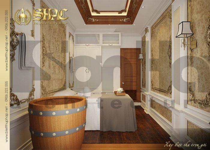Phương án thiết kế nội thất phòng spa đơn phong cách cổ điển tiện nghi