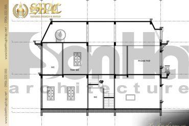 9 Mặt cắt 2 2 biệt thự tân cổ điển đẹp tại sài gòn sh btcd 0021