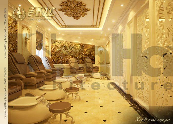 Nội thất phòng massage của spa phong cách cổ điển kiểu pháp hạ gục mọi ánh nhìn