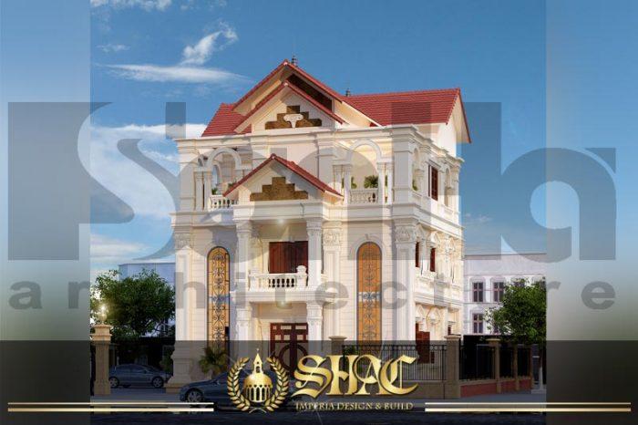 BIA kiến trúc biệt thự tân cổ điển đẹp tại thái bình sh btcd 0019