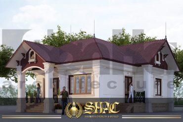 BIA kiến trúc biệt thự tân cổ điển mini tại hải phòng sh btcd 0020