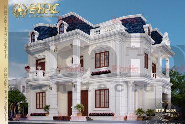 1 Thiết kế kiến trúc biệt thự pháp 2 tầng tại quảng bình sh btp 0028
