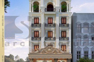 1 Thiết kế kiến trúc biệt thự pháp đẹp tại lạng sơn sh btp 0024