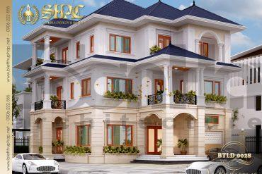 1.Thiết kế kiến trúc biệt thự tân cổ điển tại hải phòng SH BTCD 0028