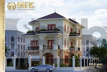 1.Thiết kế kiến trúc biệt thự tân cổ điển tại quảng bình SH BTCD 0027