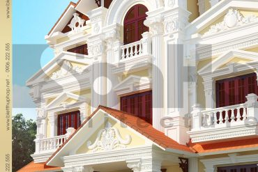 1.Thiết kế mặt tiền biệt thự tân cổ điển tại phú thọ SH BTCD 0024