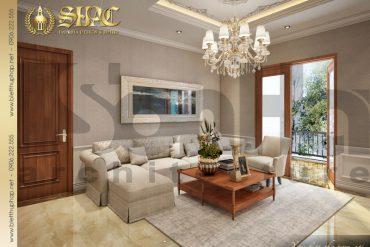 11.Thiết kế nội thất phòng sinh hoạt chung tại tầng 2 biệt thự tân cổ điển tại quảng bình SH BTCD 0027