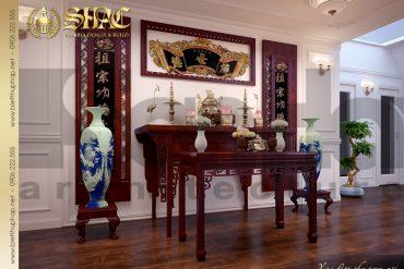 11.Thiết kế nội thất phòng thờ đẹp biệt thự pháp tại hà nội SH BTP 0029