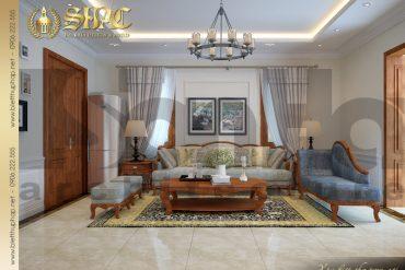 12.Mẫu nội thất phòng sinh hoạt chung tầng 3 biệt thự tân cổ điển tại quảng bình SH BTCD 0027