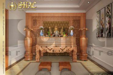 13.Thiết kế nội thất phòng thờ biệt thự tân cổ điển tại quảng bình SH BTCD 0027
