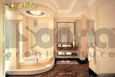 14.Mẫu nội thất phòng tắm wc sang trọng biệt thự pháp tại hà nội SH BTP 0029