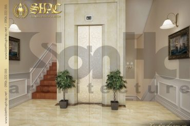 14.Mẫu nội thất sảnh thang biệt thự tân cổ điển tại quảng bình SH BTCD 0027