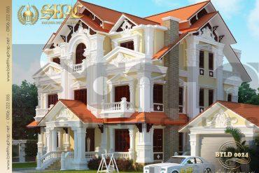 2.Mẫu kiến trúc biệt thự tân cổ điển tại phú thọ SH BTCD 0024