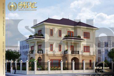 2.Mẫu kiến trúc biệt thự tân cổ điển tại quảng bình SH BTCD 0027