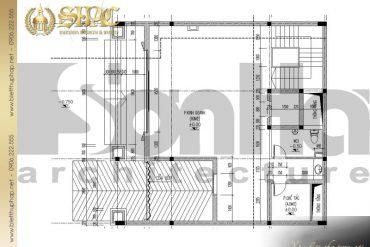 3 Mặt bằng công năng tầng 1 biệt thự pháp đẹp tại lạng sơn sh btp 0024