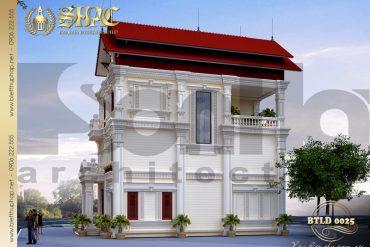 3.Thiết kế kiến trúc biệt thự tân cổ điển tại hải dương SH BTCD 0025