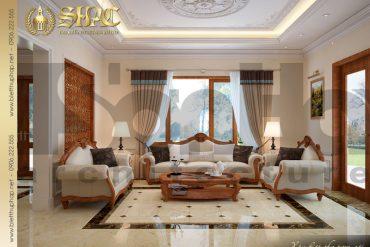 3.Thiết kế nội thất phòng khách biệt thự tân cổ điển tại quảng bình SH BTCD 0027
