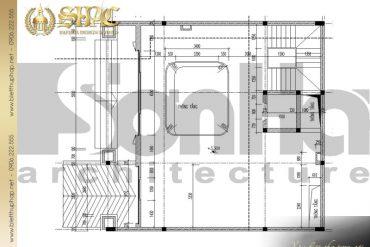 4 Mặt bằng công năng tầng lung biệt thự pháp cổ tại lạng sơn sh btp 0024