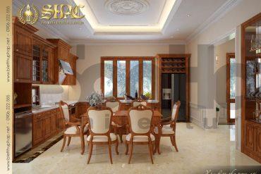 4.Mẫu nội thất phòng bếp ăn biệt thự tân cổ điển tại quảng bình SH BTCD 0027