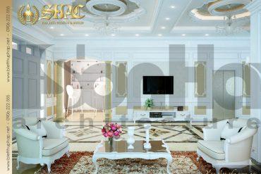 4.Mẫu nội thất phòng khách biệt thự pháp đẹp tại hà nội SH BTP 0029