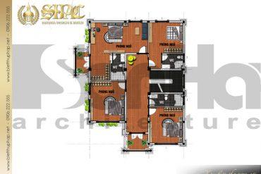 4.Mẫu thiết kế mặt bằng công năng tầng 2 biệt thự tân cổ điển tại hải phòng SH BTCD 0028