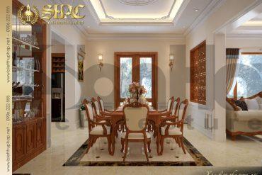 5.Thiết kế nội thất phòng ăn biệt thự tân cổ điển tại quảng bình SH BTCD 0027