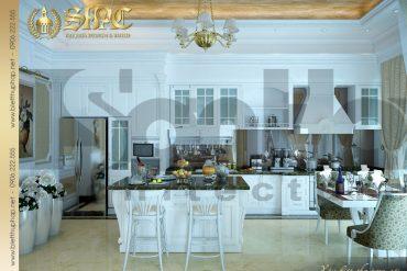 5.Thiết kế nội thất phòng ăn đẹp biệt thự pháp tại hà nội SH BTP 0029
