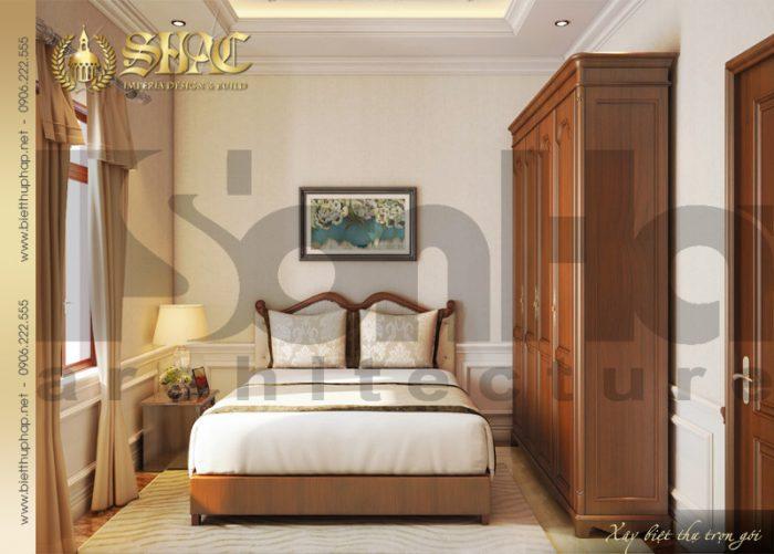 Mẫu nội thất phòng ngủ phong cách tân cổ điển của biệt thự 3 tầng tại Quảng Bình