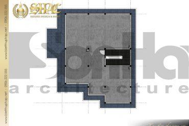 6.Mẫu thiết kế mặt bằng công năng tầng 4 biệt thự tân cổ điển tại hải phòng SH BTCD 0028