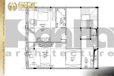 7 Mặt bằng công năng tầng 4 biệt thự pháp cổ tại lạng sơn sh btp 0024
