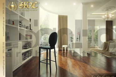 7.Thiết kế nội thất phòng ngủ cổ điển biệt thự pháp tại hà nội SH BTP 0029