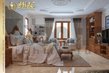 9.Thiết kế nội thất phòng ngủ biệt thự tân cổ điển tại quảng bình SH BTCD 0027