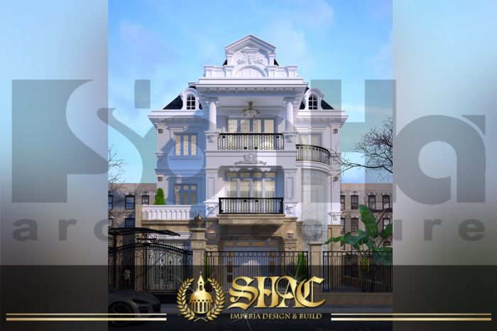 BIA thiết kế kiến trúc biệt thự pháp tại hà nội SH BTP 0029