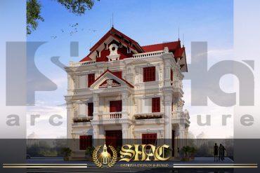BIA thiết kế kiến trúc biệt thự tân cổ điển tại hải dương SH BTCD 0025