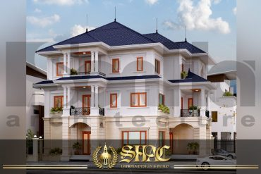 BIA thiết kế kiến trúc biệt thự tân cổ điển tại hải phòng SH BTCD 0028