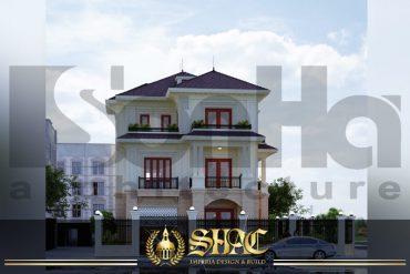 BIA thiết kế kiến trúc biệt thự tân cổ điển tại quảng bình SH BTCD 0027