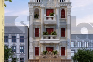 1 Thiết kế kiến trúc biệt thự pháp đẹp tại nam định sh btp 0032