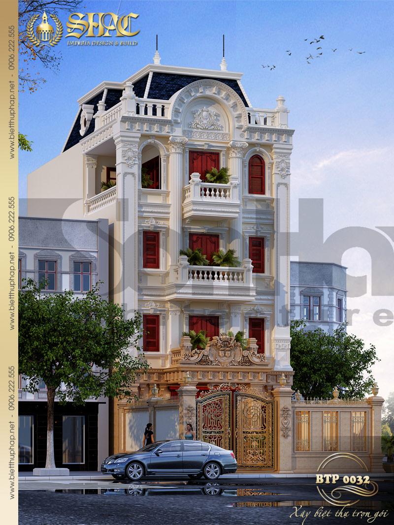Thiết kế kiến trúc được đánh giá cao của ngôi biệt thự 5 tầng phong cách pháp đẹp