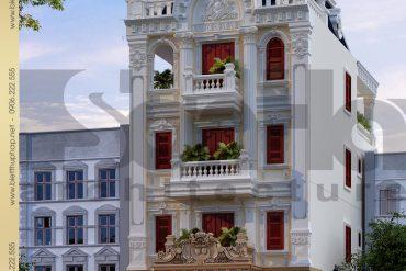 3 Thiết kế kiến trúc biệt thự pháp đẹp tại nam định sh btp 0032