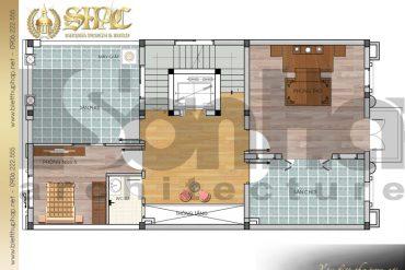 7 Mặt bằng công năng tầng 4 biệt thự pháp đẹp tại nam định sh btp 0032