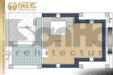 8 Mặt bằng công năng tầng 5 biệt thự pháp cổ tại nam định sh btp 0032