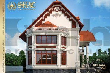 1 Thiết kế kiến trúc biệt thự pháp đẹp tại biên hòa sh btp 0030
