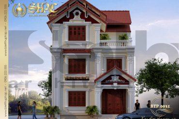 1 Thiết kế kiến trúc biệt thự pháp đẹp tại hải phòng sh btp 0031
