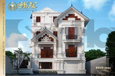 1 Thiết kế kiến trúc biệt thự tân cổ điển đẹp tại quảng ninh sh btcd 0031