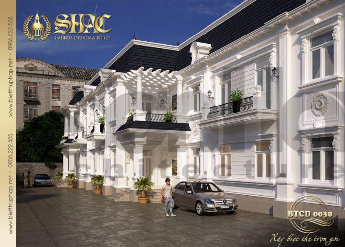 Phương án thiết kế biệt thự tân cổ điển 2 tầng đẹp và sang tại Cà Mau