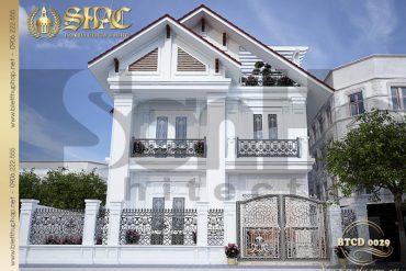 1 Thiết kế kiến trúc biệt thự tân cổ điển pháp tại hải phòng sh btcd 0029