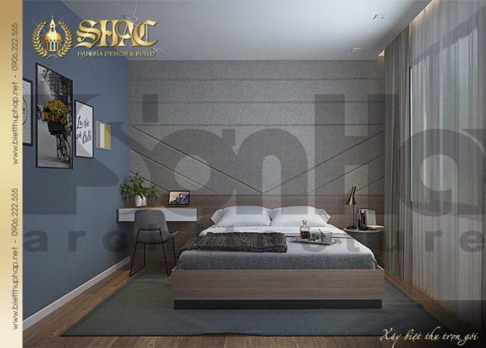 Nét đẹp trong thiết kế nội thất phòng ngủ biệt thự phong cách tân cổ điển tại Hải Phòng