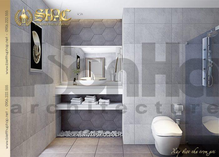 Mẫu thiết kế nội thất phòng tắm và vệ sinh biệt thự tân cổ điển pháp tại Hải Phòng